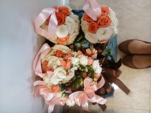 Little girl bouquets and little girl shoes
